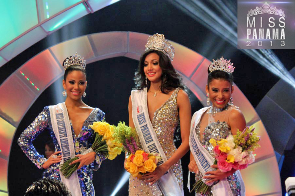 (L-R)Virginia Hernández Miss Panamá World, Carolina Brid Miss Panamá Universe and Sara Bello Miss Panamá Intercontinental